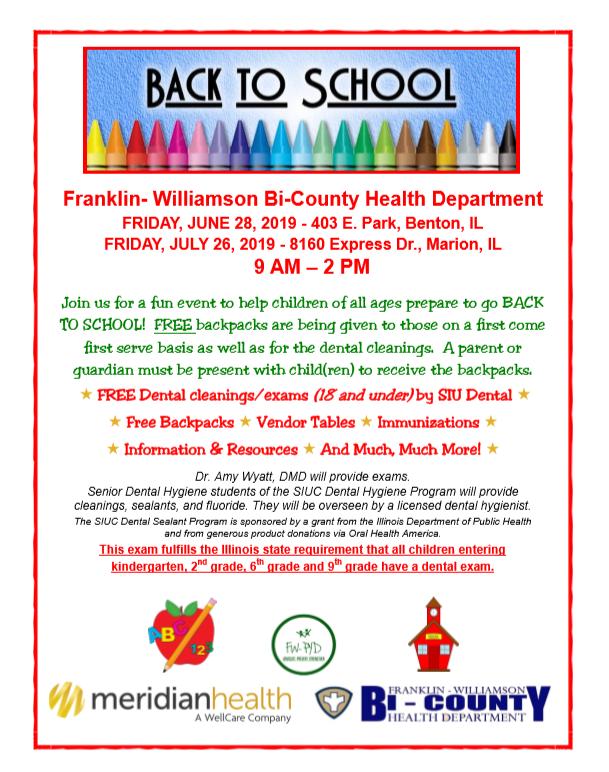 Back to School event – Franklin- Williamson Bicounty Health